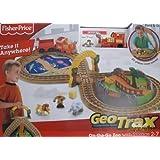 "GeoTrax ON THE GO ZOO TRAIN Set w FOLD & GO STORAGE, ""Wildest Team"", Animals & More! (2008 Fisher Price)"