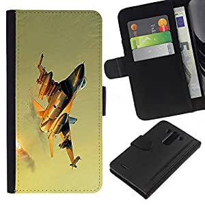 KingStore / Leather Etui en cuir / LG G3 / Combatiente moderno