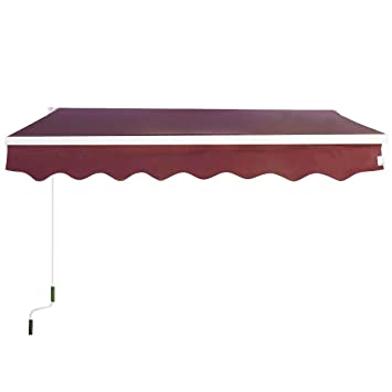 51RQd32QPxL._SY355_ amazon com goplus manual patio 8 2'�6 5' retractable deck awning GoAnimate Plus at edmiracle.co