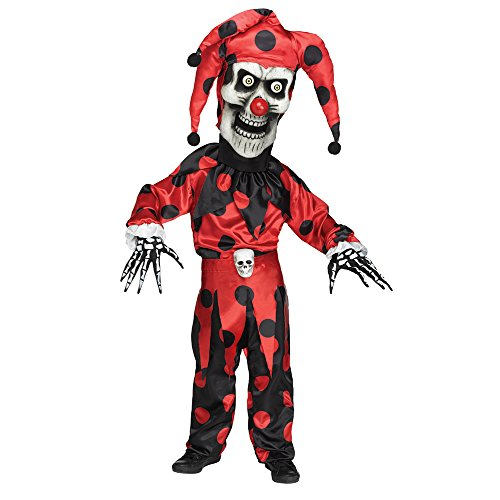 sc 1 st  Amazon.com & Amazon.com: Kids Bobble Head Evil Jester Halloween Costume: Clothing