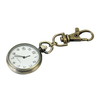 Pinzhi Bronce Aleación Unisex Llavero Reloj Bolsillo Cuarzo ...