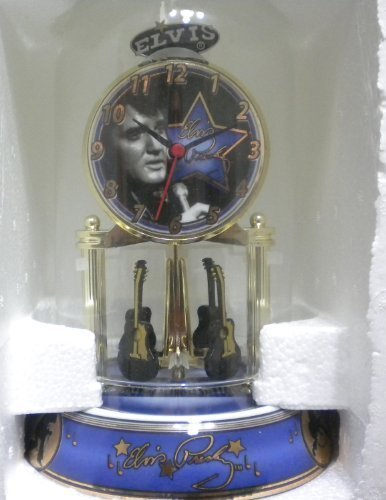 Elvis Presley Porcelain Anniversary Collectible Clock by Elvis Presley