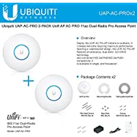 Ubiquiti UAP-AC-PRO 2-PACK Unifi AP AC PRO 11ac Dual-Radio Pro Access Point