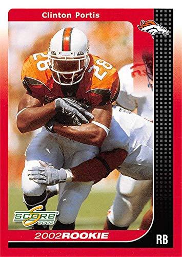 Clinton Portis football card (Miami Hurricanes) 2002 Score Rookie #263