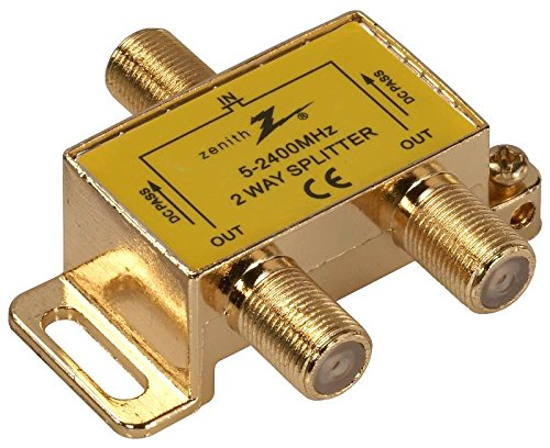 (AmerTac - Zenith VS3001SP2W TwoWay Coax Splitter 2.4GHz)