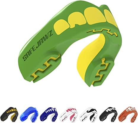 SAFEJAWZ Mouthguard Intro Series Pink Gum Shield MMA Boxing Rugby Teeth Guard