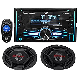 """Package: JVC KW-R920BTS Double-Din In-Dash Stereo/CD Player/Receiver With Bluetooth And USB Capabilities + Pair of JVC CS-DR6930 3-Way Car Speakers Totaling 1000 Watt Measure 6""""X9"""""""