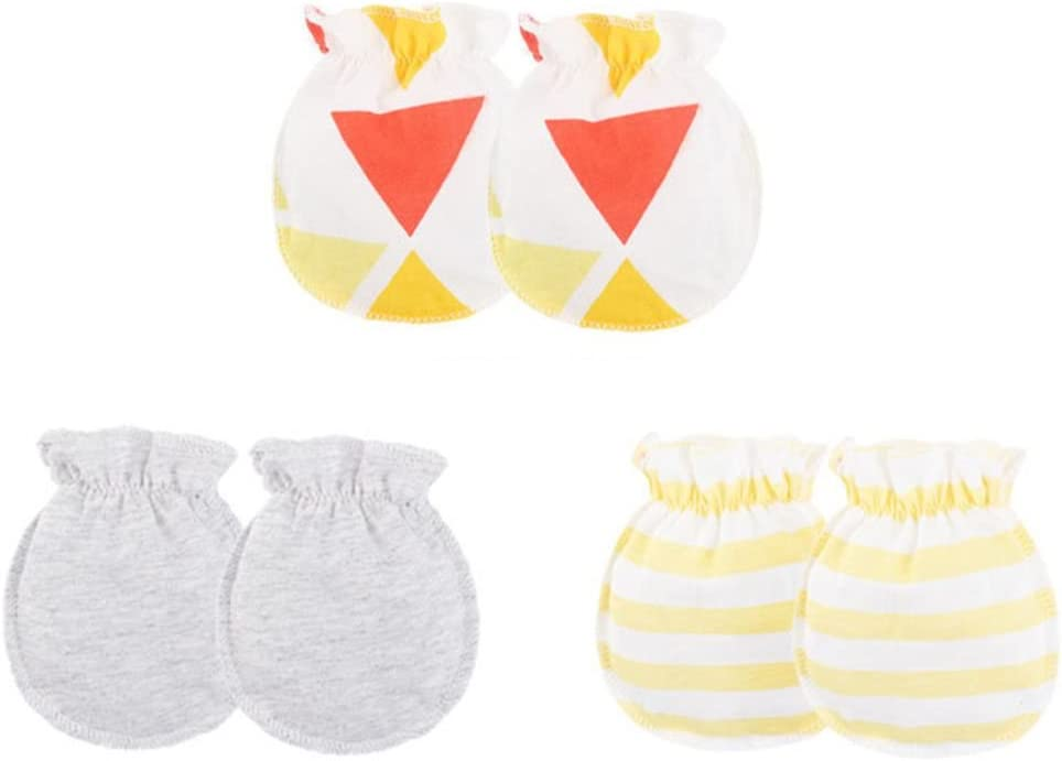 Aiming 3 Pairs Baby Mitten Baby Girl Boy Combed Cotton Warm Cotton Gloves Band No Scratch Newborn Toddler Mittens #2