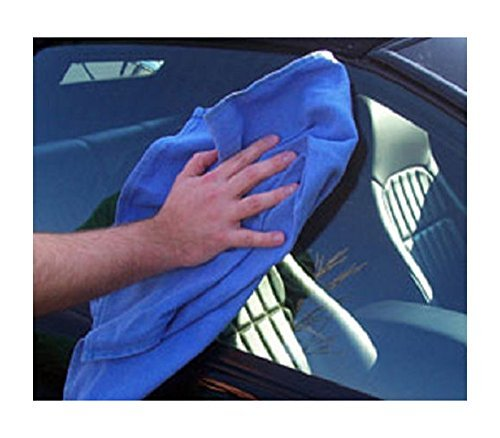 50 NEW BLUE COMMERCIAL WINDOW CLEANING TOWELS 100% COTTON ABSORBENT NEW UNUSED CLEANING TOWELS by Unbranded by Unbranded*