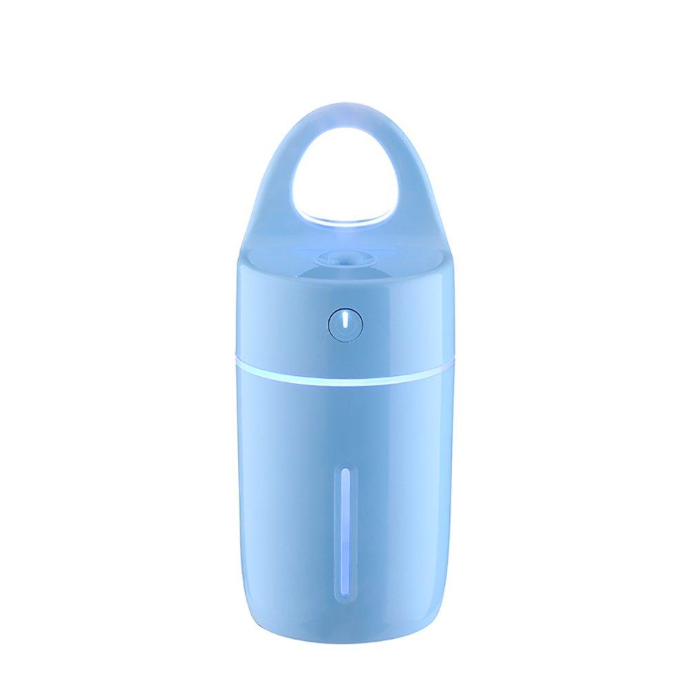 ナイトライトLED機械微粒化アロマテラピーマシン超音波加湿器ミニUSB加湿器ソフトライト寝室カラー ブルー B078Q5JXSY ブルー ブルー