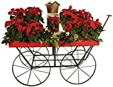 Wald Imports 70054 Large Red Distressed Metal Display Wagon