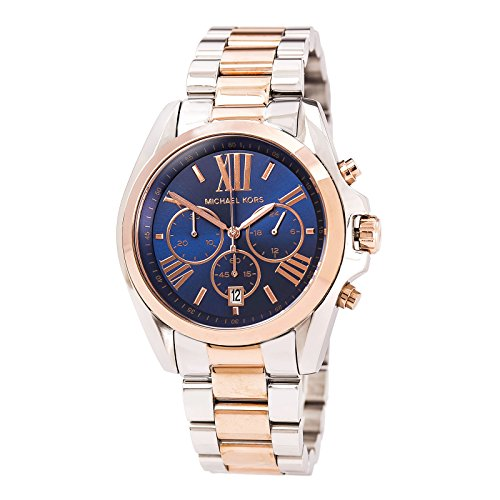 Michael Kors - Mid-Size Bradshaw Chronograph Watch, Silver-Color/Rose Golden - MK5606
