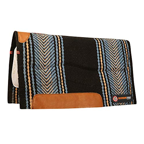 (Irideon T3 Woven Pad with Woolback Liner and Impact Protection Inserts, Blue/Black)