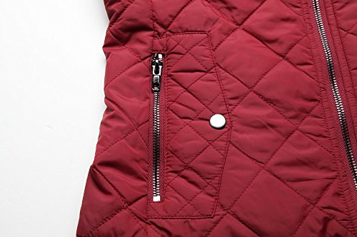 MISS MOLY Women's Zip up Stand Collar Lightweight Quilted Gilets Packable Padded Vest w 2 Side Zip Pockets S by MISS MOLY (Image #6)