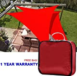 Quictent 20 X 20 X 20 Ft Triangle Sun Sail Shade Canopy Top Outdoor Cover Patio Garden W/free Carry Bag- Red For Sale