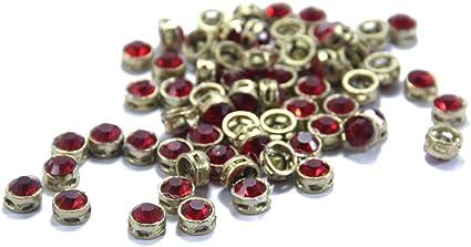 round gold Craft art sewing stitch beads fashion clothing jewellery making 300