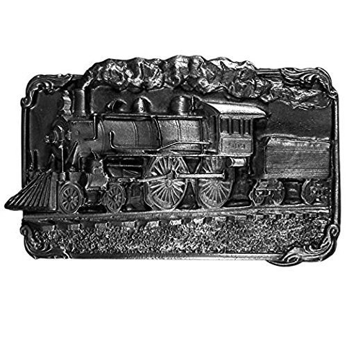 Siskiyou Train Antiqued Belt Buckle