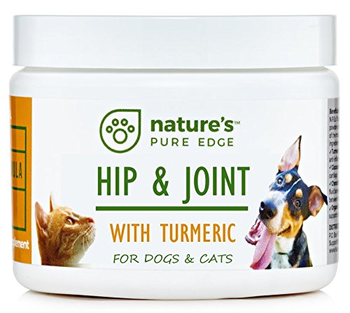 POWERFUL PET HIP & JOINT - with ORGANIC TURMERIC - Natural Ingredients - Triple Strength - Chondroitin - Glucosamine - MSM - Organic Sea Coral Calcium - Natures Sea Calcium