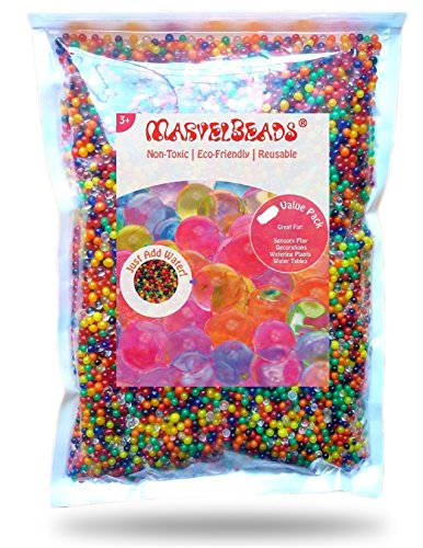 Water Absorbing Beads (MarvelBeads Water Beads Rainbow Mix (1 Pound)