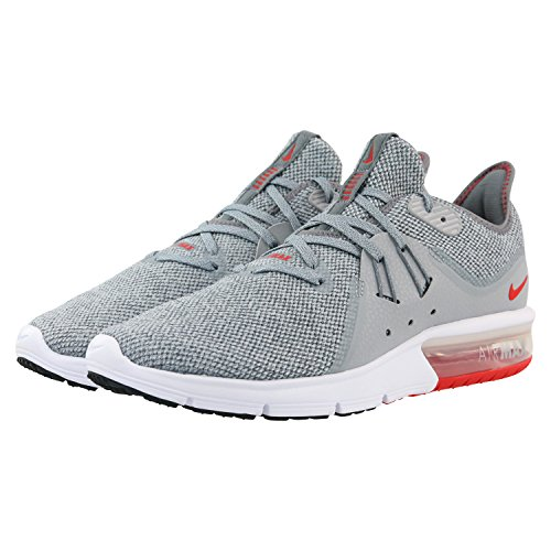 Nike Men's Air Max Sequent 3 Running Shoes Cool Grey/University Red 7 by Nike (Image #5)