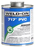 Weldon 10151 717 Low VOC PVC Solvent Cement, 1/2 pt Capacity, Gray
