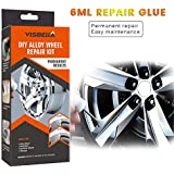 NMSLQ Alloy Wheel Repair Adhesive Kit Fast Repair General Purpose Silver Paint Fix Tool for Car Auto Rim Dent Scratch, Installation Damages Care Accessory