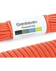 """Grenhaven Paracord touw in verschillende kleuren Paracord koord parachute koord universeel inzetbaar survival touw met 7 strengen 30m 550lbs 100ft van scheurbestendig """"parachute cord"""" LET OP !!!! Dit touw is niet geschikt voor klimmen"""