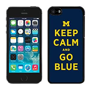 Beautiful And Popular Designed With Ncaa Big Ten Conference Football Michigan Wolverines 16 Protective Cell Phone Hardshell Cover Case For iPhone 5C Phone Case White