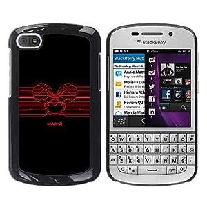 A-type Arte & diseño plástico duro Fundas Cover Cubre Hard Case Cover para BlackBerry Q10 (Red Deadmaus)