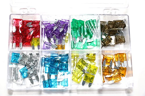 80 Pieces 5A 10A 15A 20A 25A 30A Mini Blade Fuse Assortment Automotive Car Truck Fuses (25a Blade Fuse)
