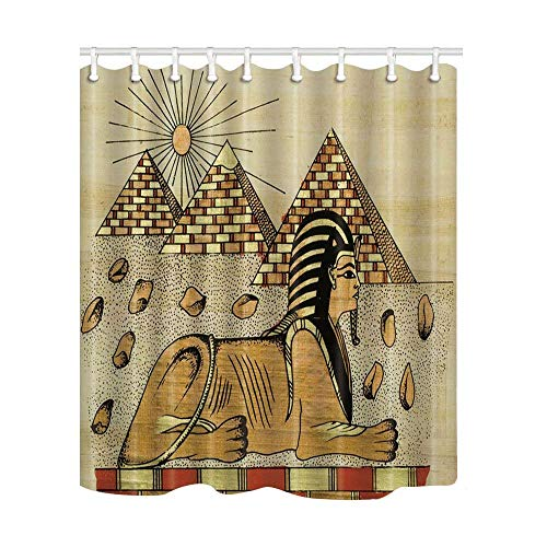 Yaoni Egyptian Decor, Egypt Sex Woman Shower Curtain, Mildew Resistant Polyester Fabric Bathroom Decorations, Bath Curtains Hooks Included, 69X70 inches (Multi5) by Yaoni