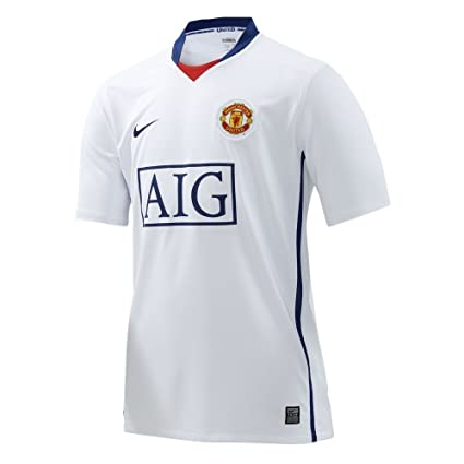 separation shoes f0b20 d1eb7 Amazon.com : Nike Manchester United Away Jersey 08/09 WHITE ...
