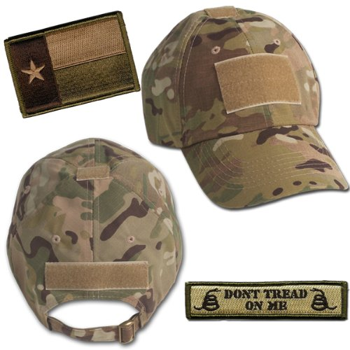Amazon.com  Texas Tactical Hat   Patch Bundle (2 Patches + Hat ... f331fd1e7ad