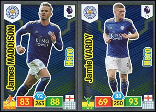 Panini Premier League ADRENALYN XL 19//20 Jamie Vardy Hero No.377 Leicester