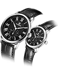 STARKING Luxury Couple Watches Man and woman Wrist Watch TL0906 Leather Woman Watch Casual Style Roman Number...