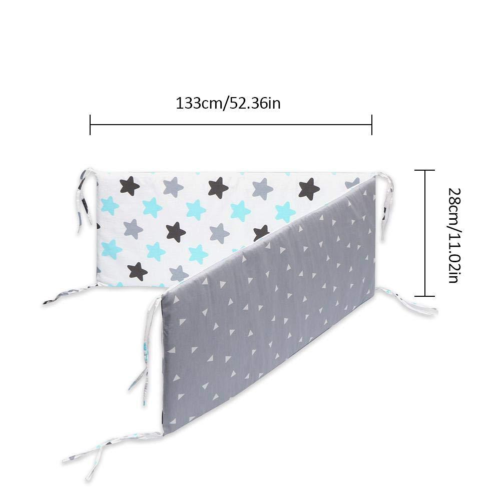 Breathable Crib Bumper Pads Baby Cot Bumper Protection Baby Bed Crib Cot Bumper Pads for Baby Boys Girls Safe Bumper Guards