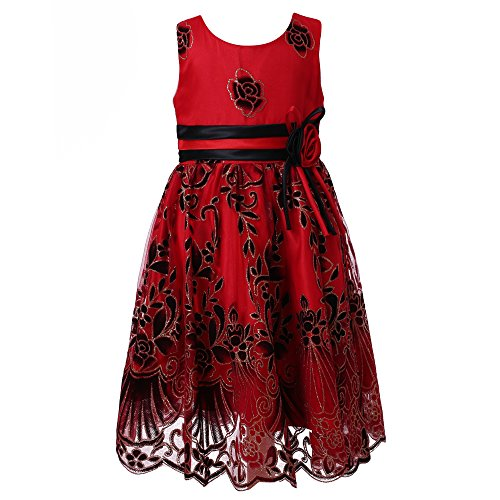 Richie House Girl's Sweet Party Multi-layered Dress Size 2-12 RH2142-A-6/7