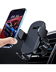TEUMI Car Phone Holder, [Upgraded Vent Clip] Hands Free Cell Phone Holder for Car, Universal Air Vent Car Phone Mount Compatible with iPhone 12 Pro/11 Pro Max/XS/8, Samsung Galaxy S20/Note 10