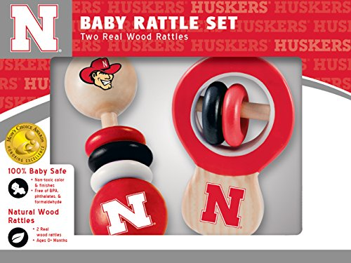 MasterPieces NCAA Nebraska Cornhuskers Real Wood Baby Rattles -