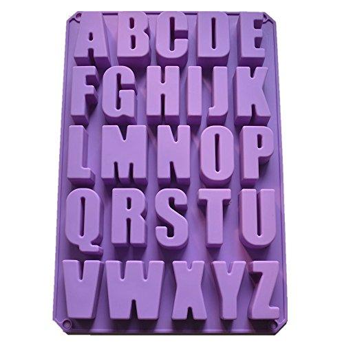 Allforhome 26 Er Silikon Form Zum Backen Und Basteln Form Buchstaben Alphabet Fur Kuchen Muffins Handgefertigte Seife Kekse Schokolade