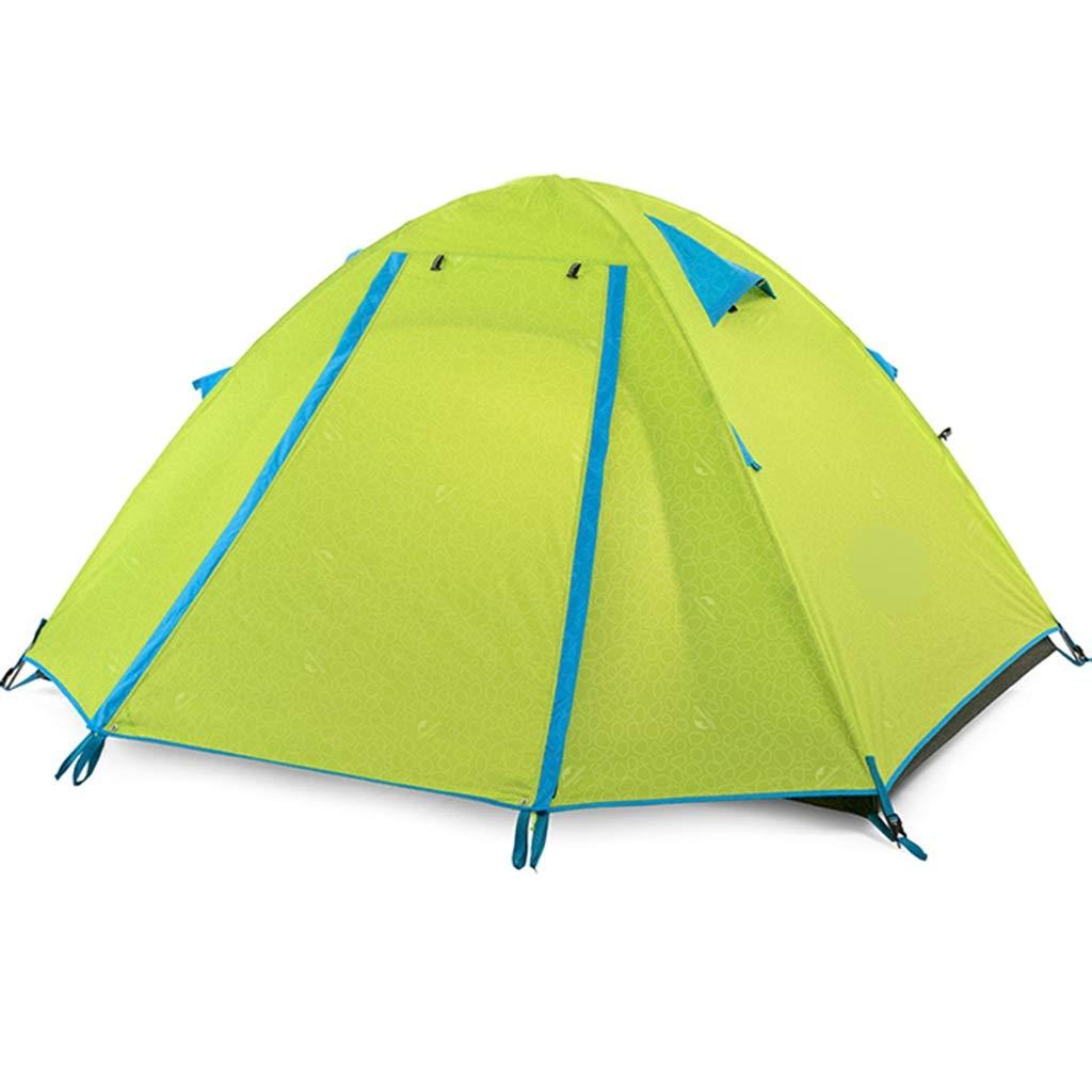 YaNanHome Doppeltes Starkes Zelt des Zeltes im Freien regendicht 2 Leute, die Zelt kampieren, Wandern Zelt Multi-Farbe wahlweise freigestellt (Farbe : Grün, Größe : 205  160  110cm)