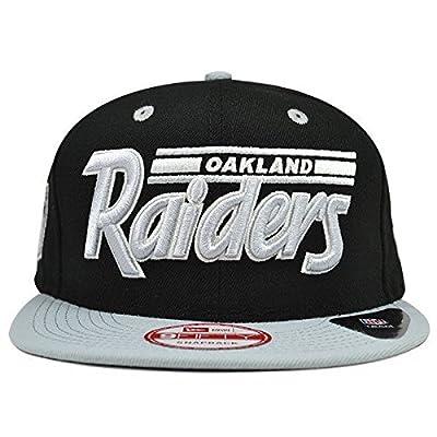 Oakland Raiders New Era White Script Black Snapback Hat Cap