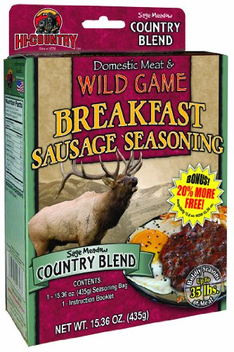 Hi-Country Snack Foods Country Blend Home Made Fresh Ground Style Sausage Spice Kit, 15.36-Ounce