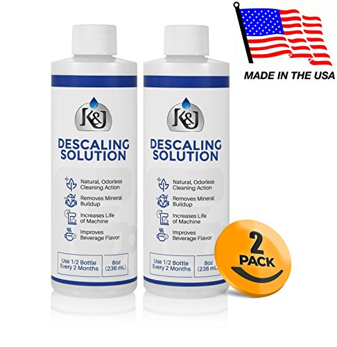 2 Pack Universal Descaling Solution   Descaler For Keurig  Cuisinart  Breville  Kitchenaid  Nespresso  Delonghi  Krups  And All Other Coffee Brewers   By K J