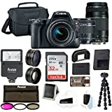 Canon EOS Rebel SL2 Digital Camera: 24 Megapixel 1080p HD Video DSLR Bundle with 18-55mm & 75-300mm Lens 32GB SD Card Tripod Filter Kit Flash & Bag - Professional Vlogging Sports & Action Camera