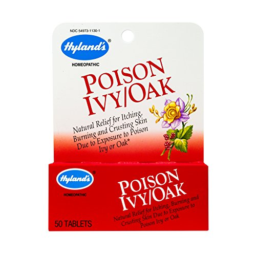 Hyland's Poison Ivy & Poison Oak Treatment, Natural Relief for Itching, Blisters, and Burning Skin, 50 tablets