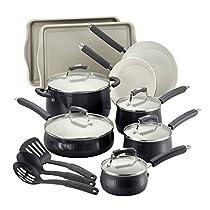 The Black Savannah 17 Piece Cookware Set