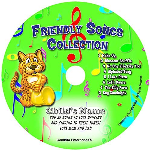 Gombita Enterprises Children Name Personalized Music CD - Friendly Songs Collection - Music CD and