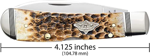 Case Cutlery 80259 Tribal Lock Burnt Amber Bone, Multicolor