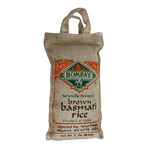 Amazon.com : Bombay Basmati Rice Brown, 2lb : Dried